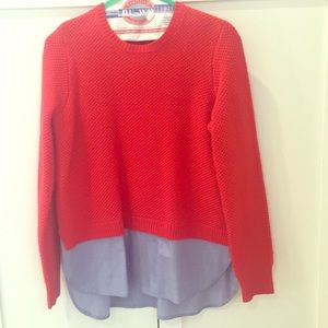 J.Crew combined sweater/shirt Size M
